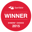 OpenTable Diners' Choice Winner 2015